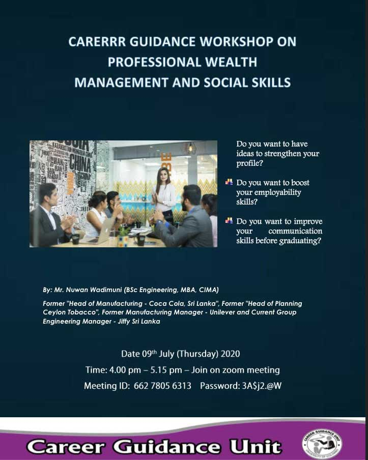 Workshop on Professional Wealth Management and Social Skills